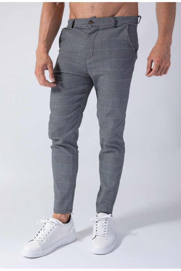 pantalon à carreaux élégant